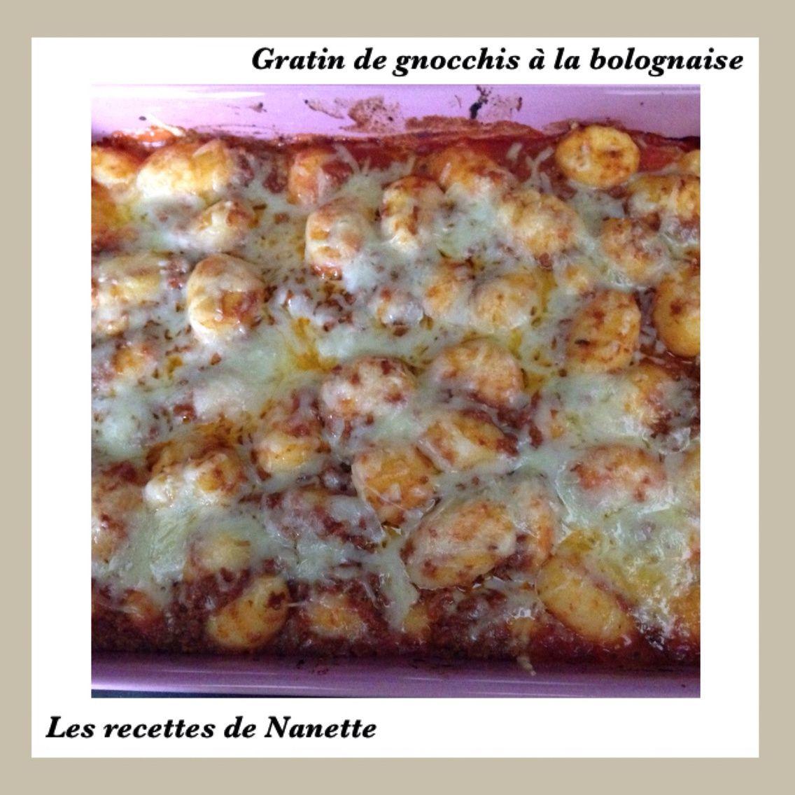 Gratin de gnocchis à la bolognaise
