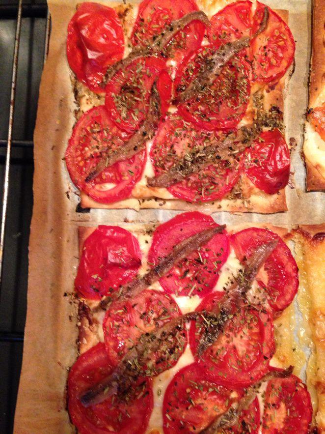 Tarte tomates merzer anchois