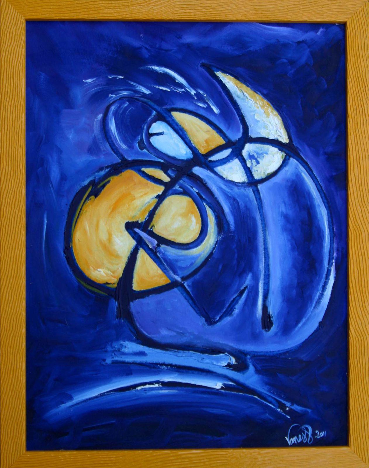 huile sur toile et pastels sur papier, petits et grands formats