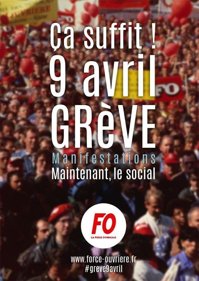 Mobilisation du 9 avril 2015 : déclaration de confédération FO
