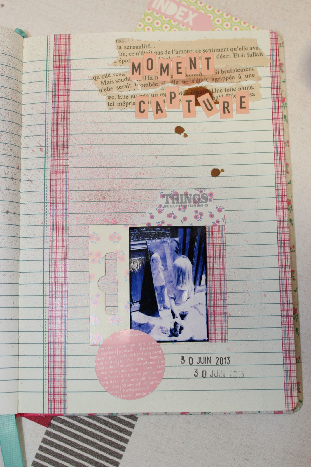 http://luniversdegarfield59.over-blog.com scrap scrapbooking papier carnet photo