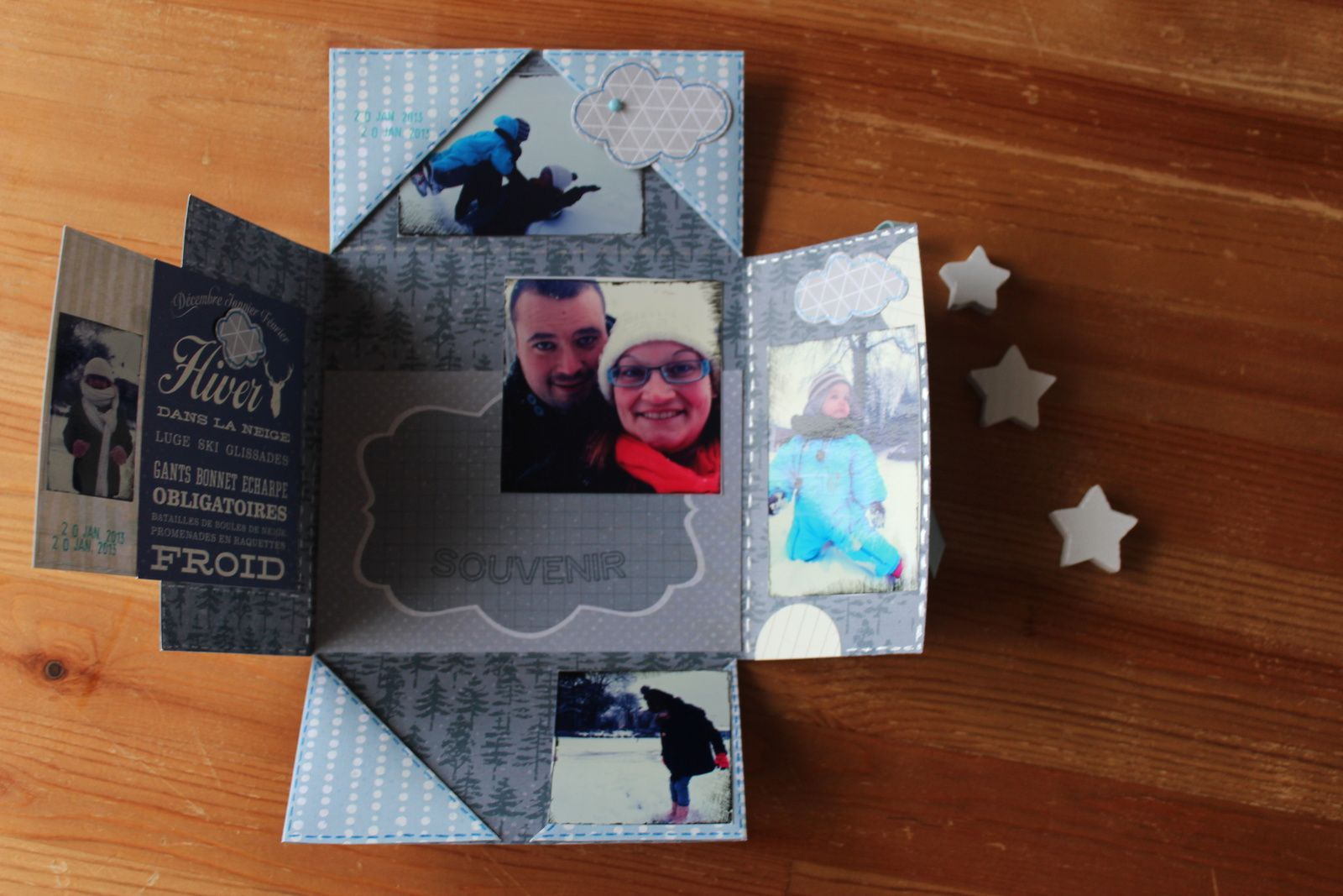 http://luniversdegarfield59.over-blog.com mini album neige hiver scrap