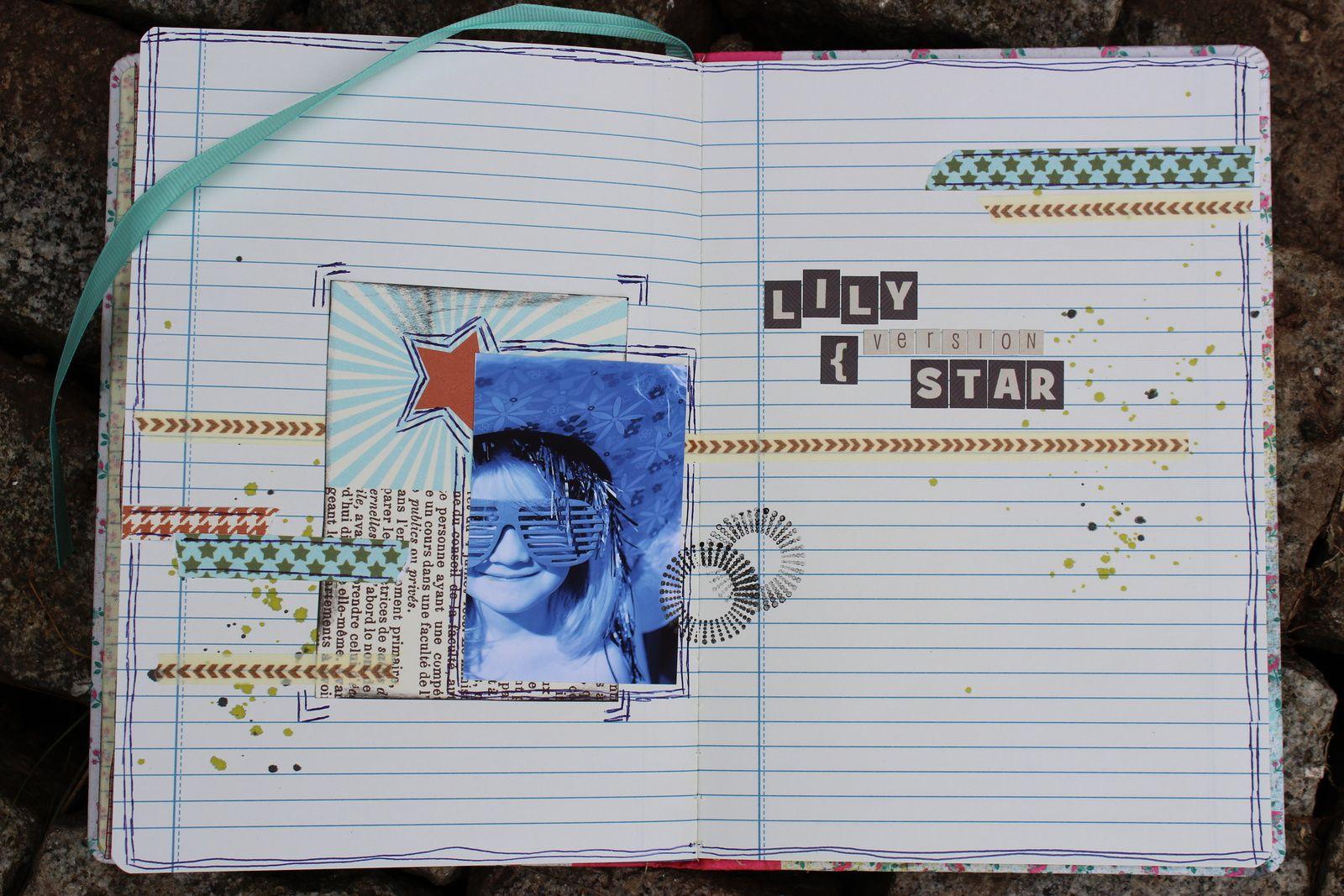 http://luniversdegarfield59.over-blog.com carnet notes défi sketch scrapetc garfield59