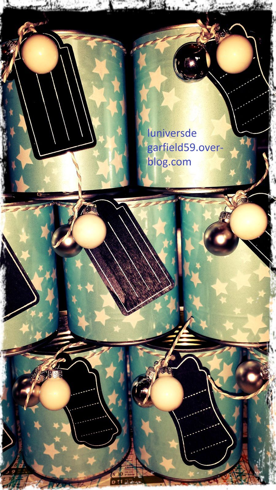 http://luniversdegarfield59.over-blog.com recup recyclage conserve noel calendrier l'avent diy