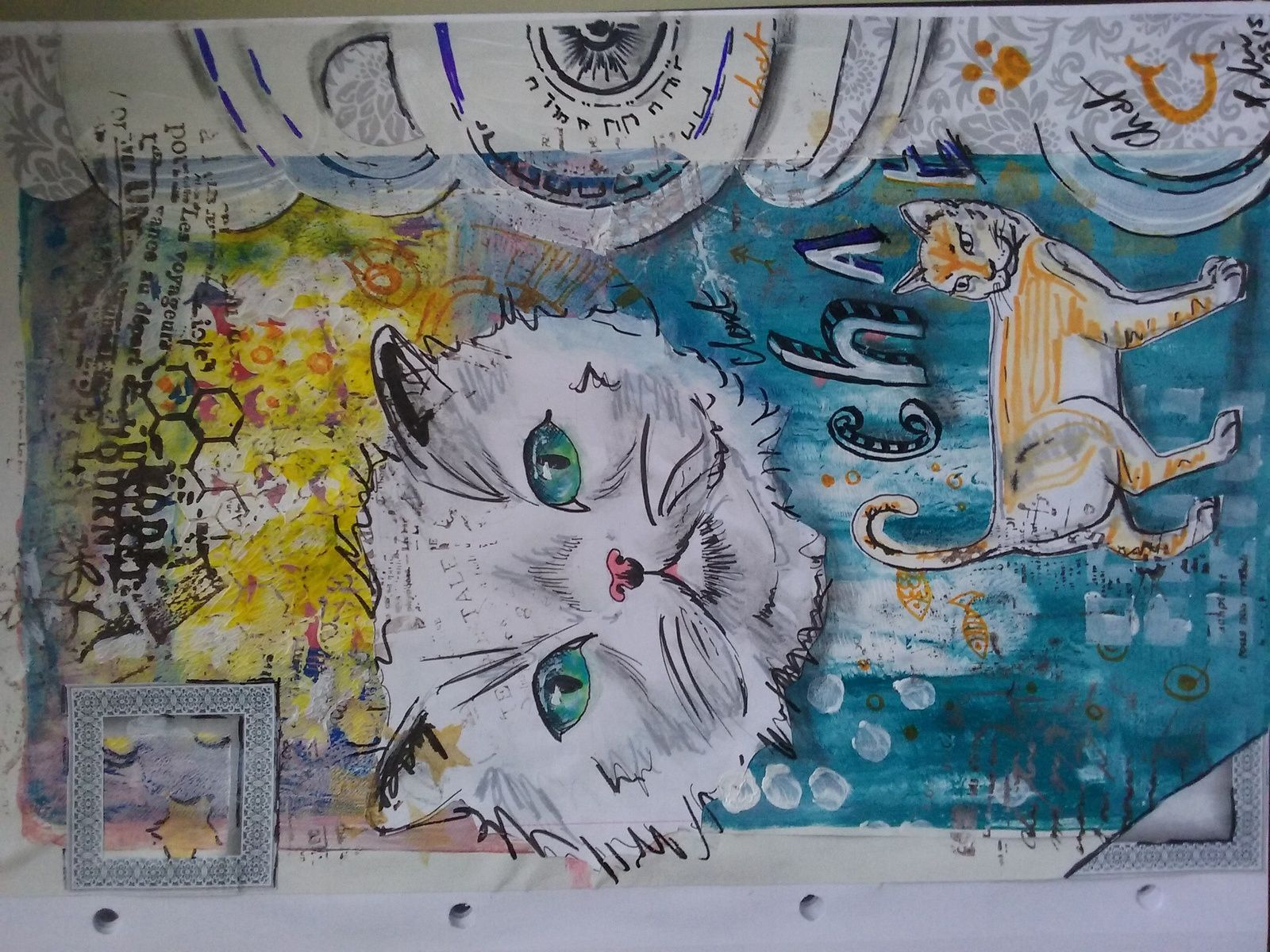 "Art journal page""chat"""