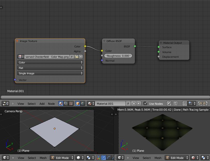 Les bases des matériaux sous Cycles: apprendre à combiner les textures Diffuse, Specular et Normal.