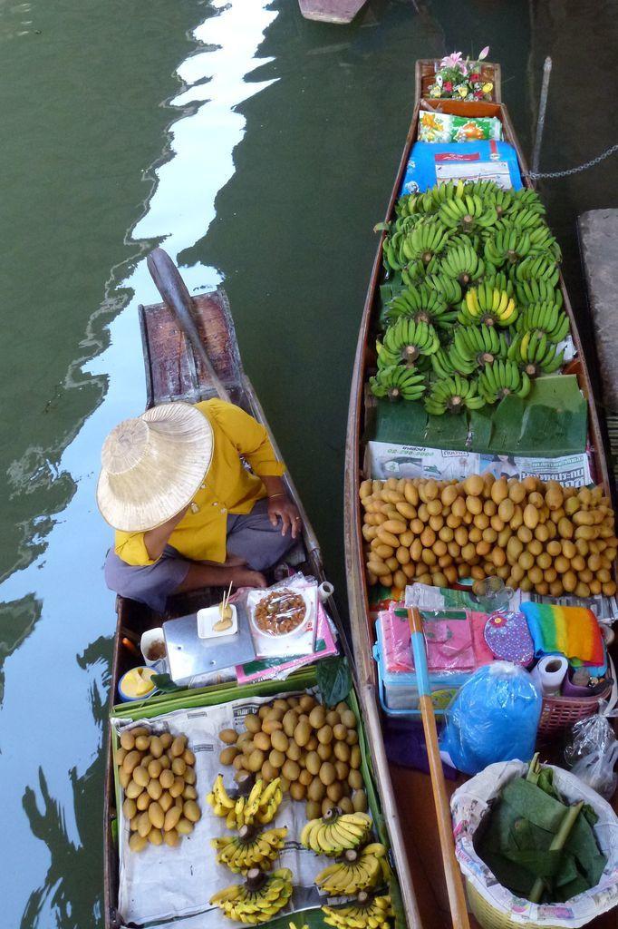 Promenade au marché flottant