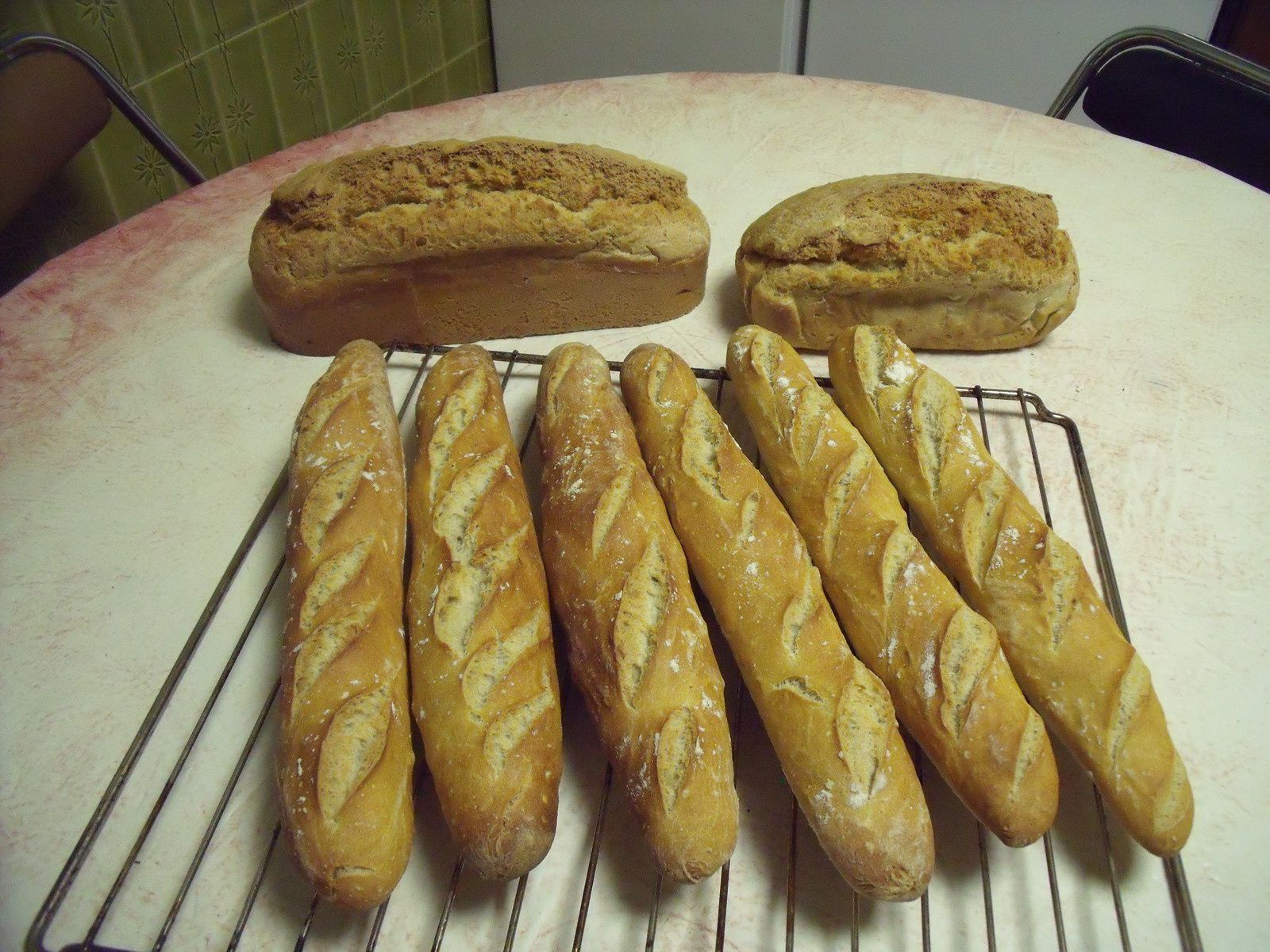 Baguettes de pain maison chochana cuisine for Baguette de pain maison