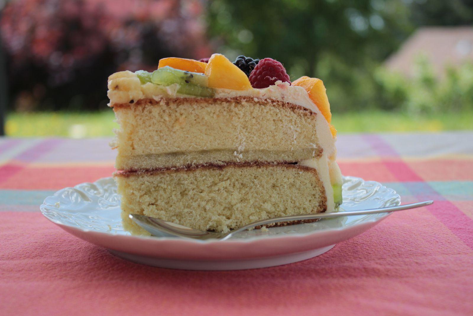 G teau d 39 anniversaire aux fruits sans gluten mes petits g teaux sans gluten - Gateau d anniversaire sans gluten ...