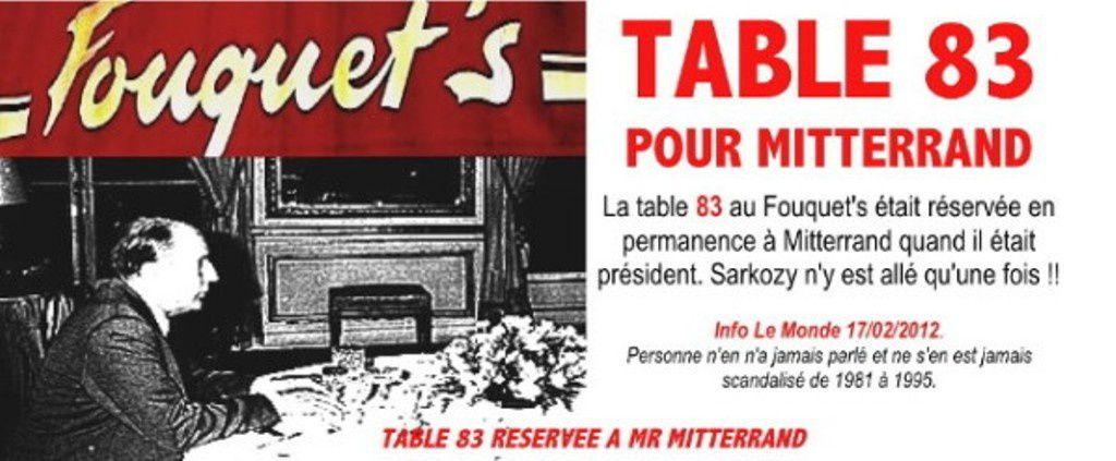 Mitterrand avait sa table au Fouquet's réservée en permanence