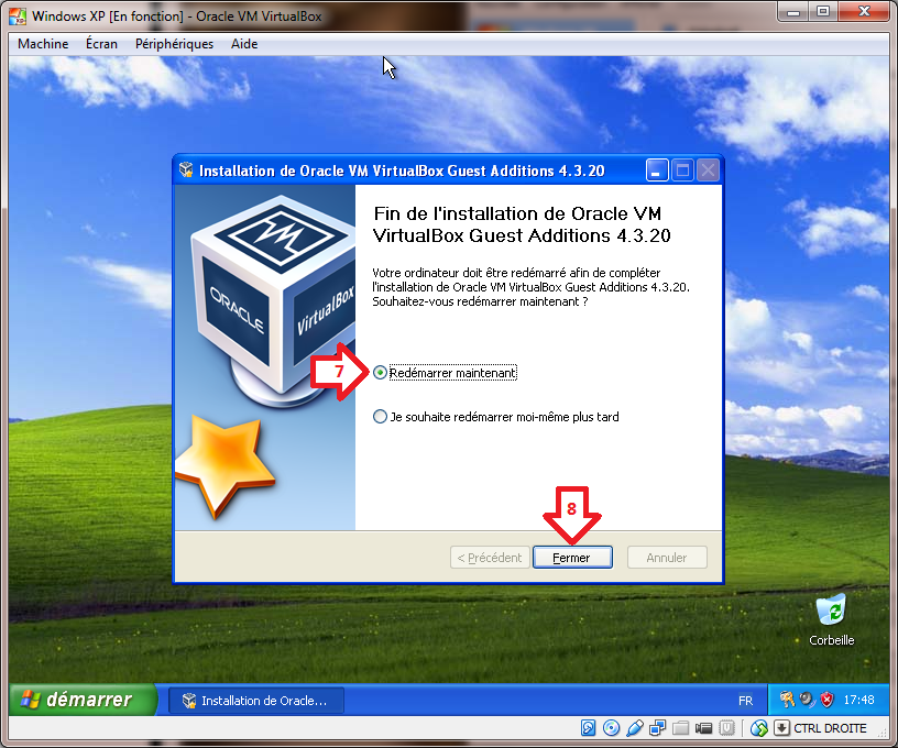 Configuration de Windows XP