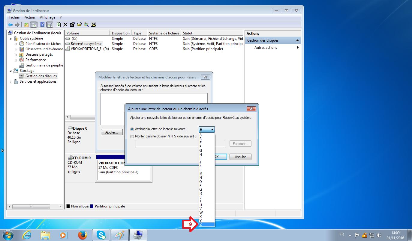 lettre lecteur disque windows 10