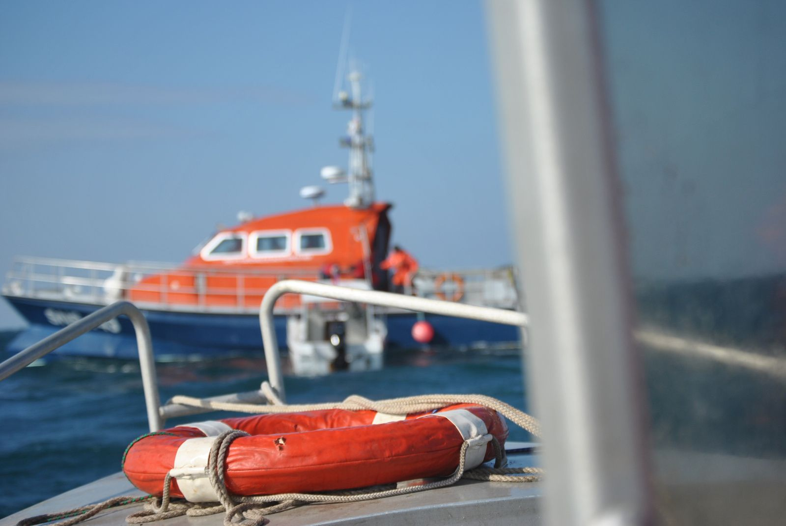 EXERCICE ORSEC 2 - FEU A BORD D'UN BATEAU DE PLAISANCE AUX ECREVIERES