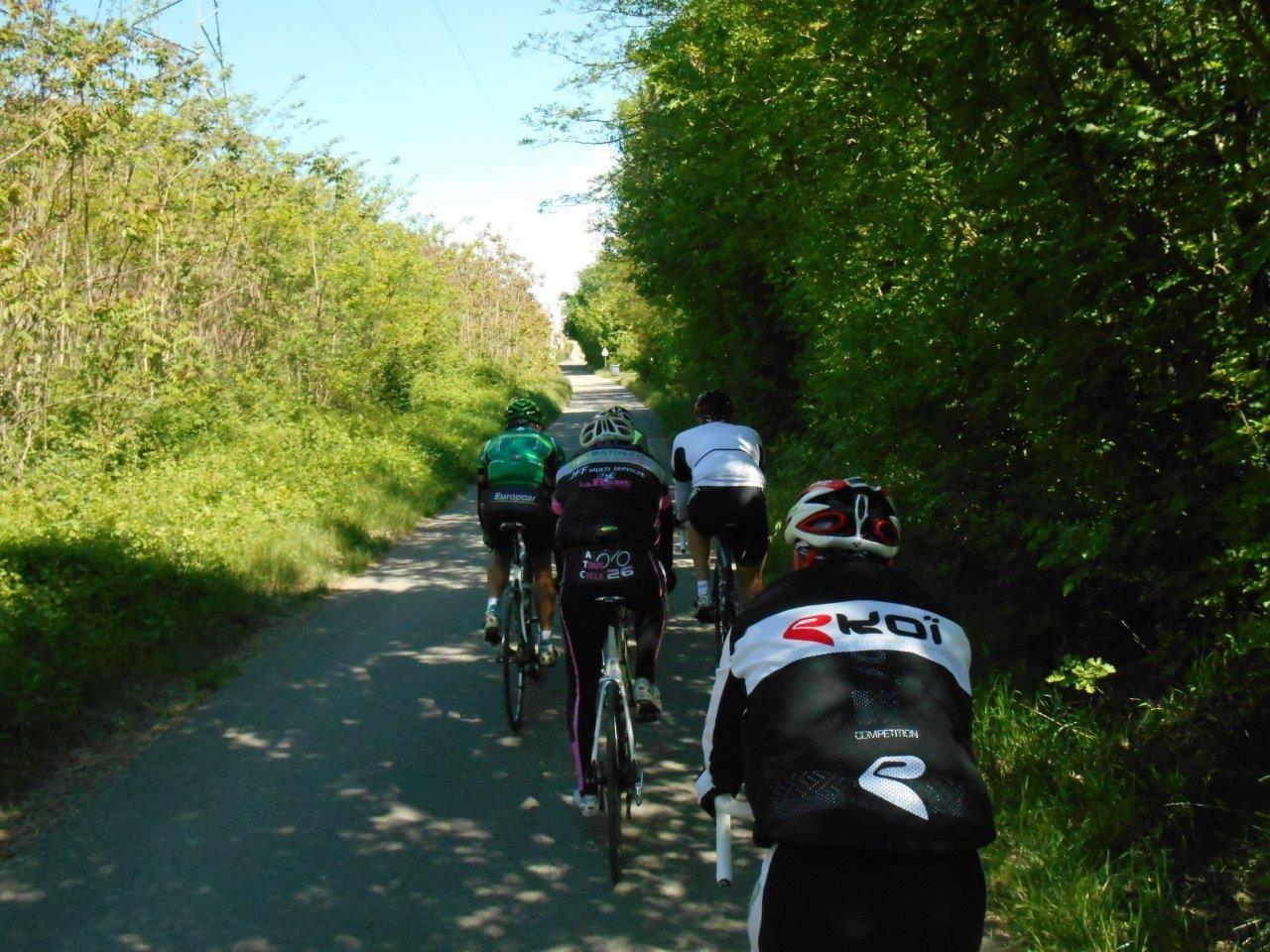 Petite route le long du Rhône pour rejoindre le Teil.