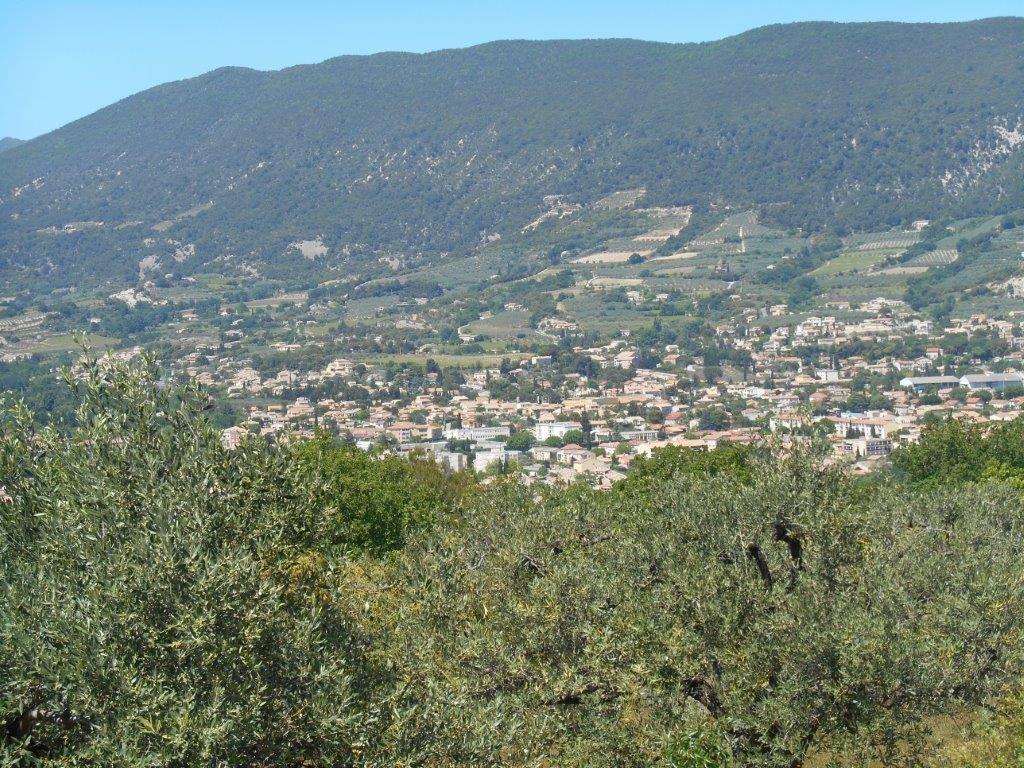 Photos de la petite ville de Nyons depuis le promontoire des Blaches.