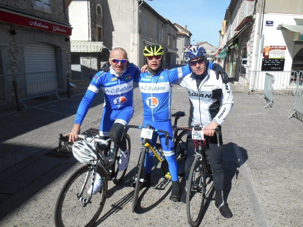 David, Stéphane et Patrick le trio sur le 77 km - Jérôme lui fait 3 dans sa catégorie, le top !