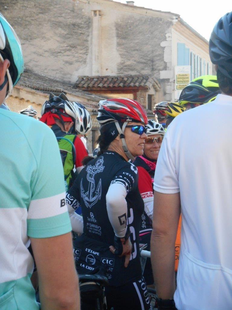 Les amis : Brigitte et Gillou et juste derrière Valérie et Pierre du Cyclo Sport Ciotaden.