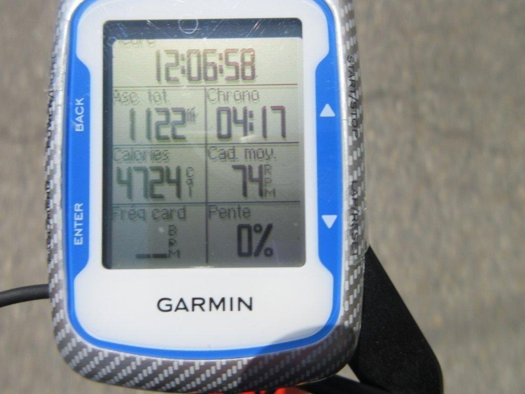 On revient par Laval St Roman puis Pont St Esprit. Le compteur affiche 116 km et on rentre à midi 06, dans les temps !