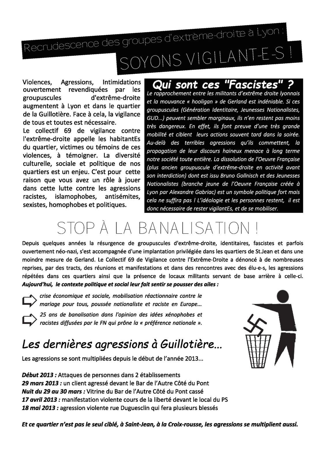 Réunion publique d'information le 29 novembre à la Guillotière