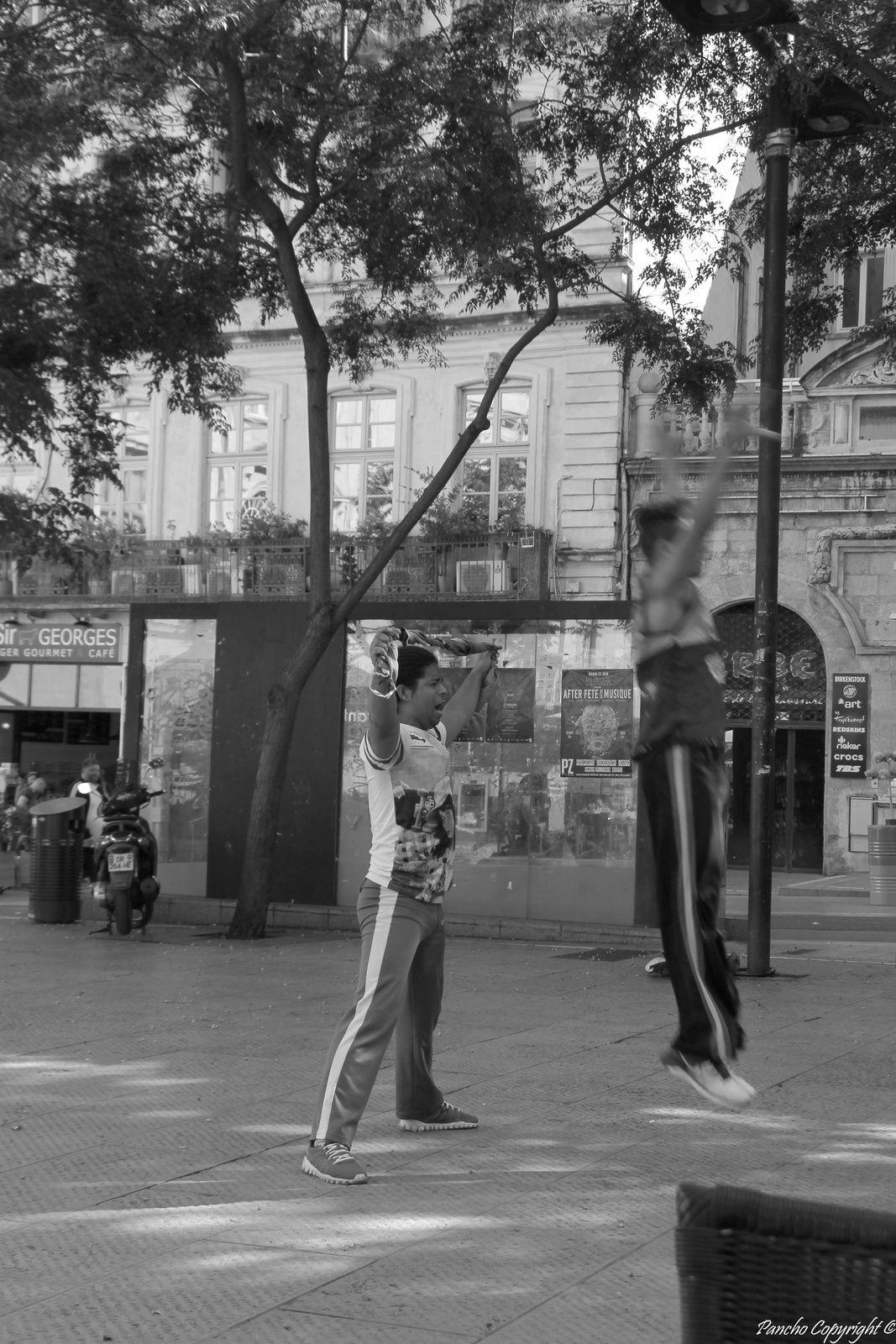 En terrasse....acrobatique