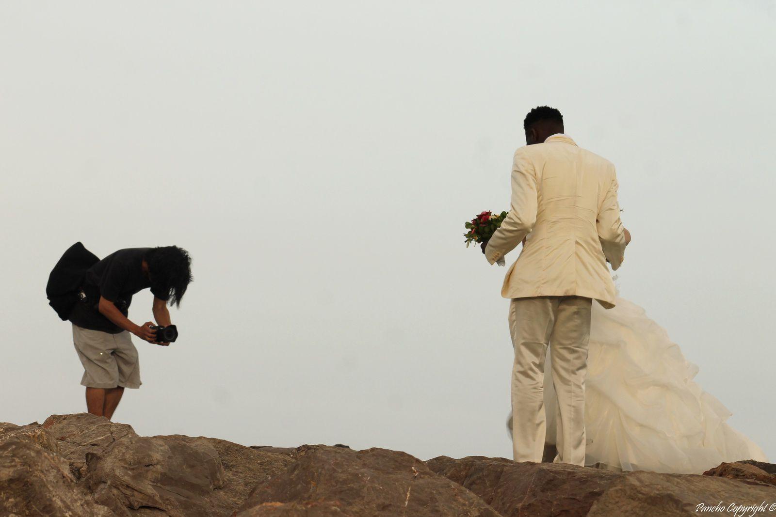 Les mariés du bord de mer
