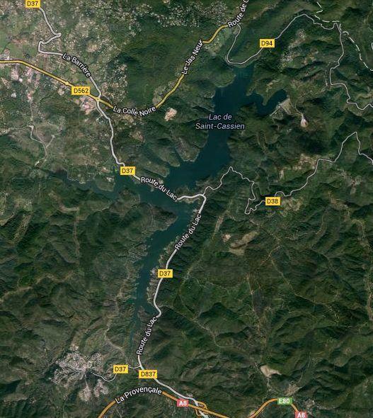 Barrage de St Cassien et son lac. Balades d'ici et d'ailleurs