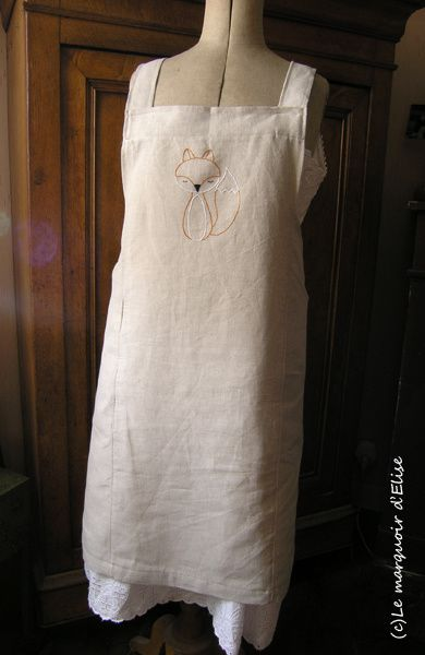 Linen cross back apron @ Purl Soho