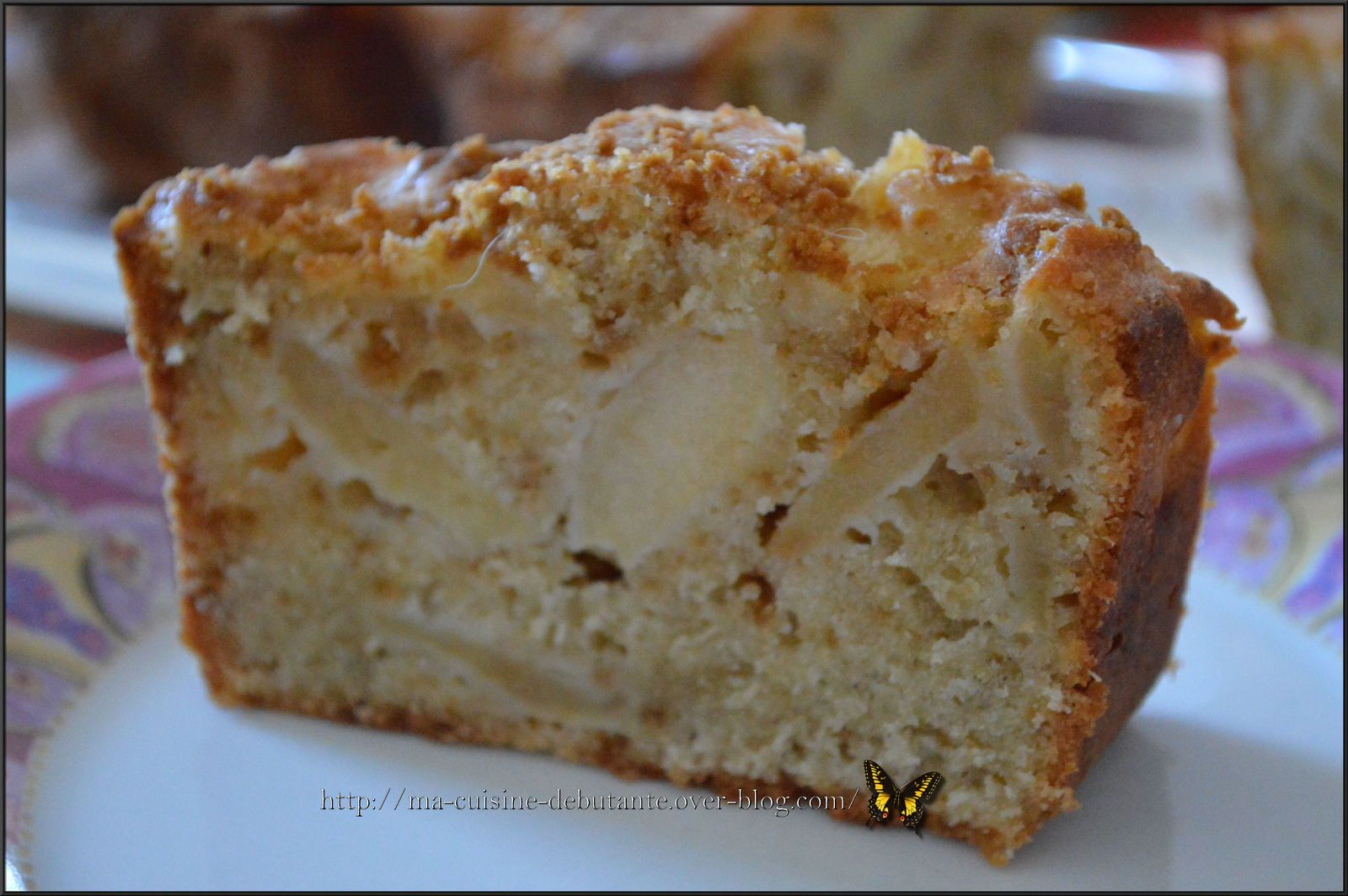 Cake aux pommes spéculoos cannelle