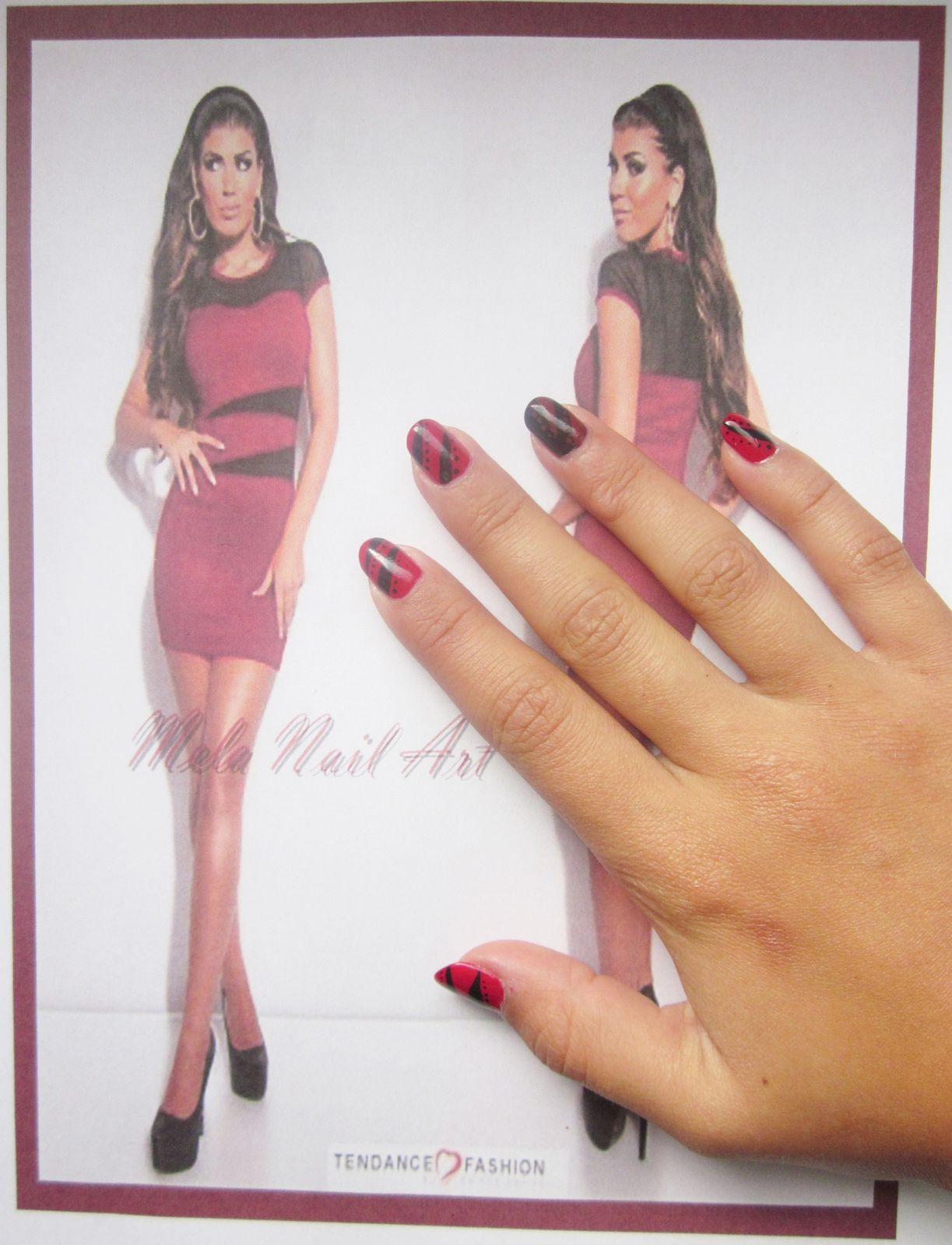 Manucure Tendance Fashion Rouge Et Noire