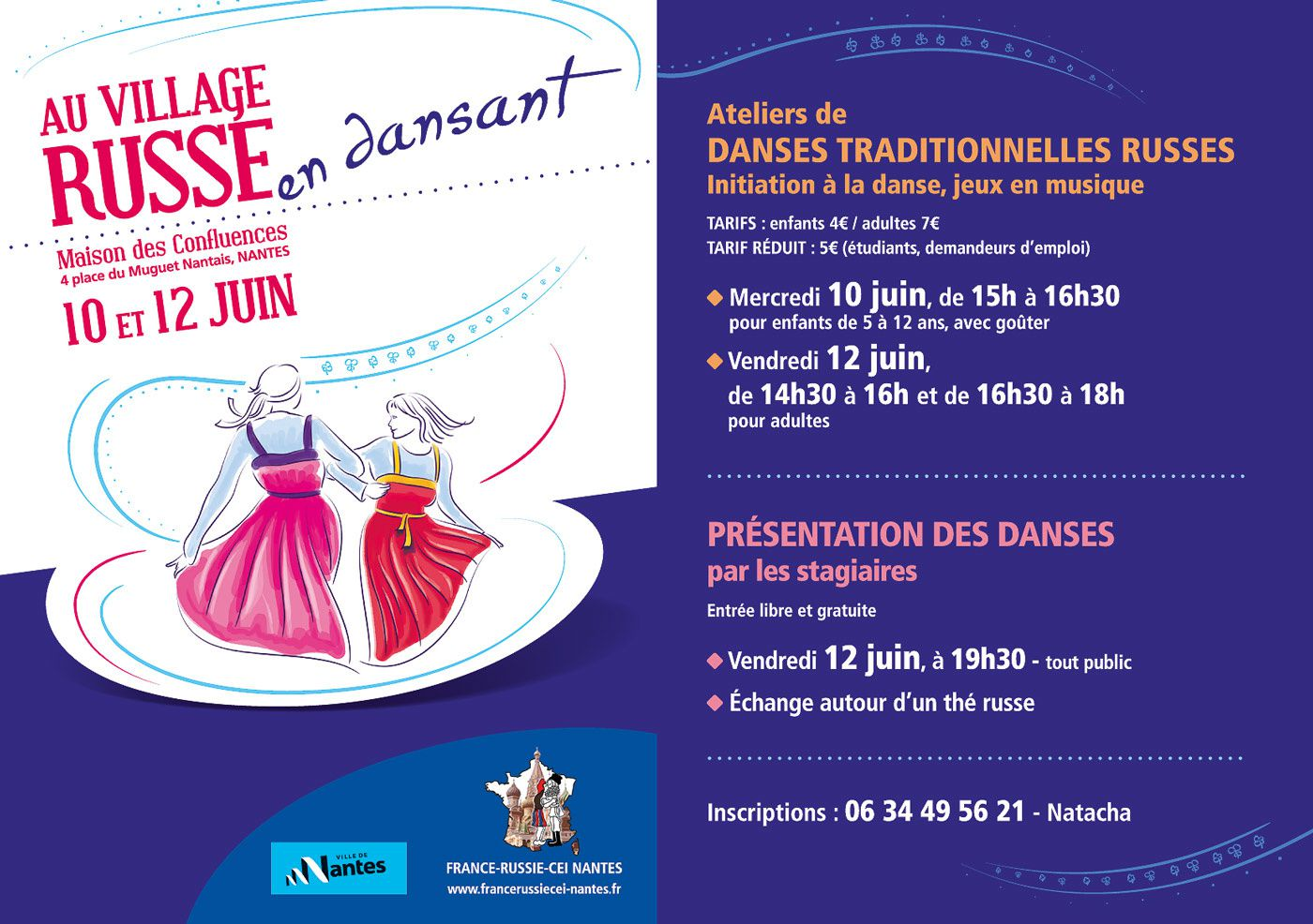 Ateliers de danses traditionnelles russes