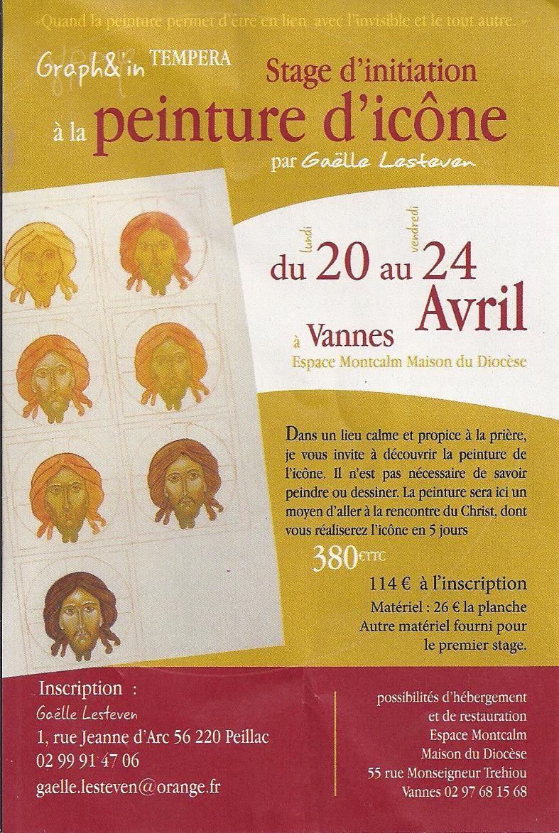 Stage d'initiation à la peinture d'icône du 20 au 24 avril 2015 à Vannes