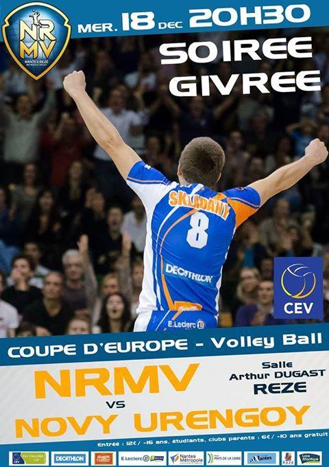 Nantes Rezé Métropole Volley vs le géant sibérien de Novy Urengoy