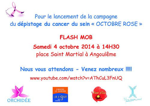 Flash mob Octobre rose