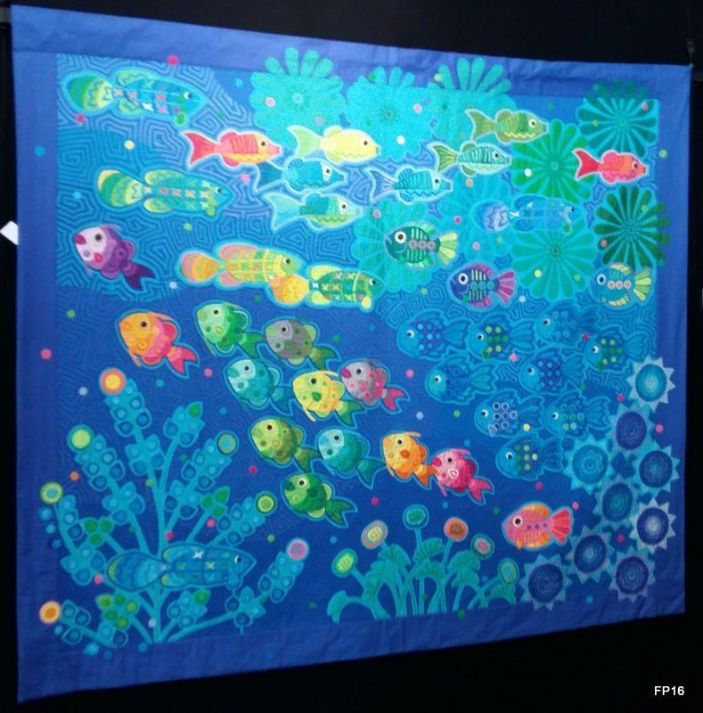 Yasuko Kawaguchi : Viva en el oceano abierto (166 x 196 cm)