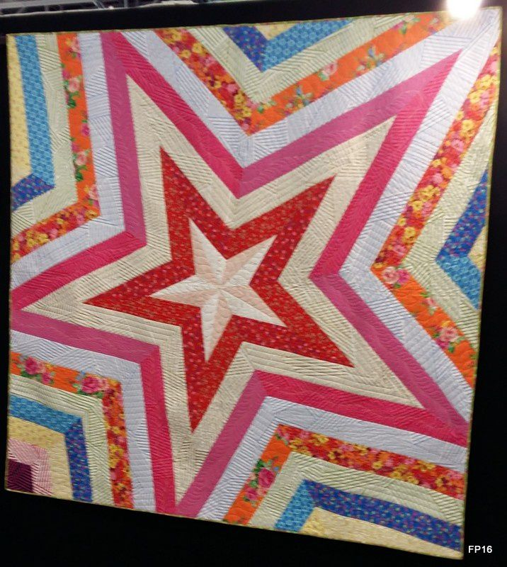 Victoria Findlay Wolfe quilted by Shelly Pagliai : Star Power
