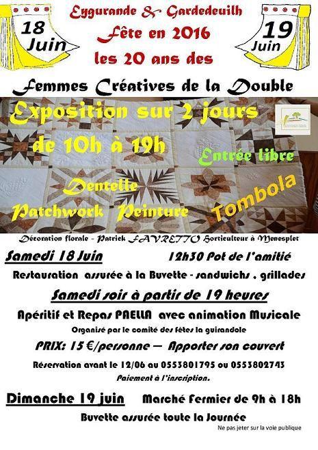 Exposition à La Double en Dordogne