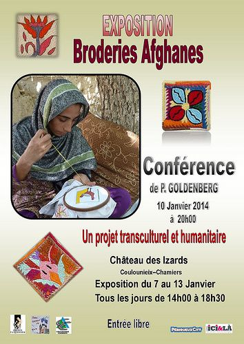 Expo - conférence sur les broderies afghanes