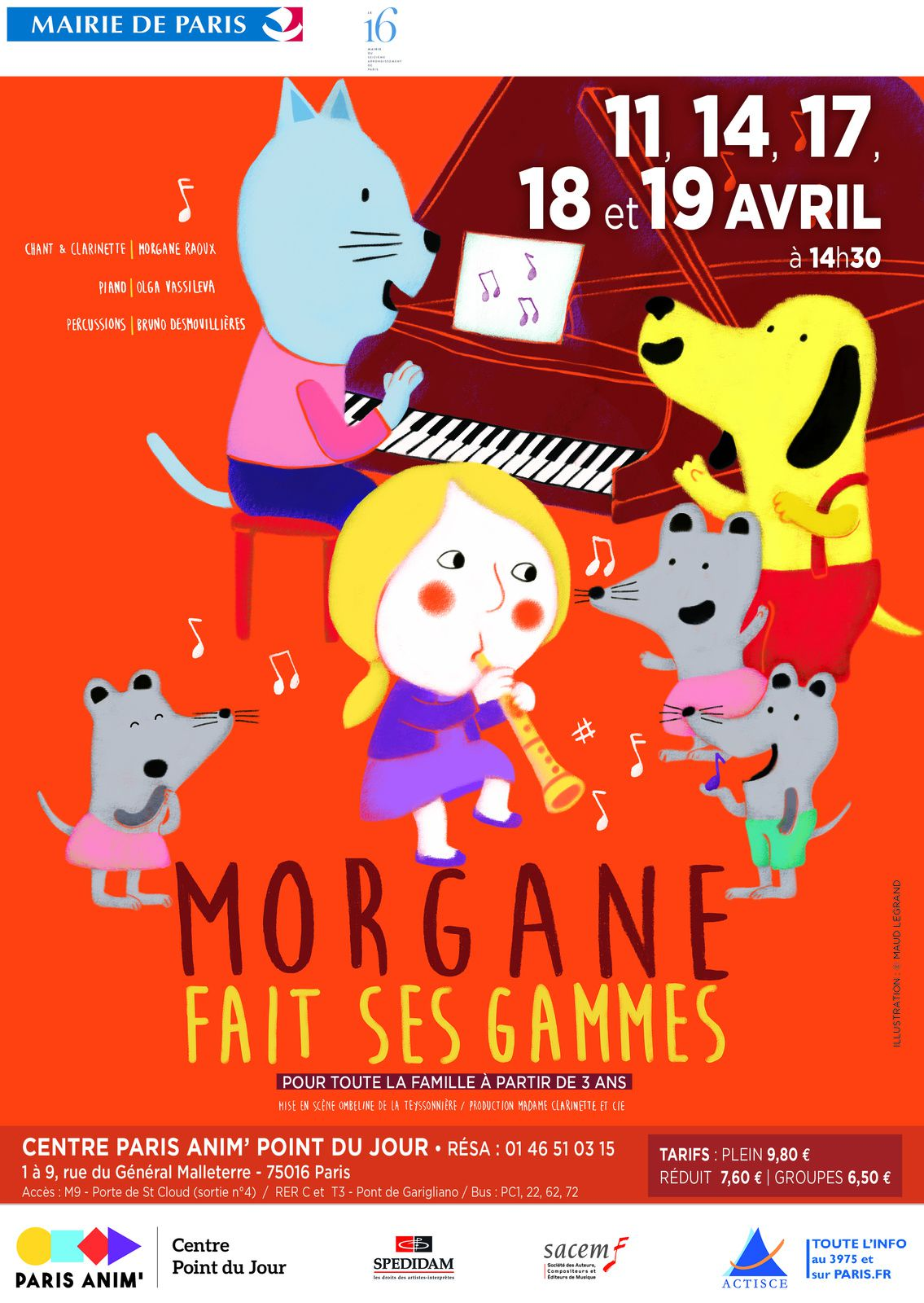 spectacle 3 ans paris