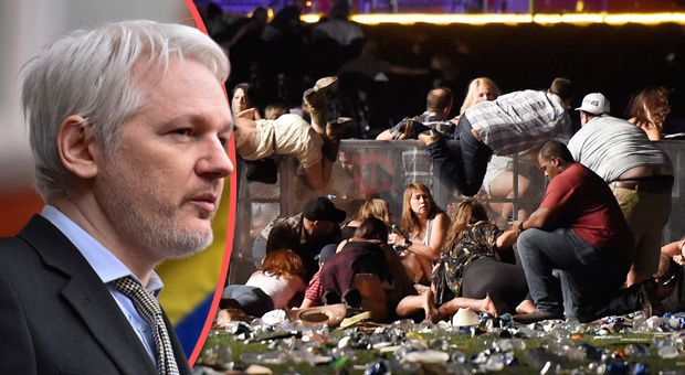 Assange ist zurück -  Eine Wahrheit Bombe um  Las Vegas Massaker