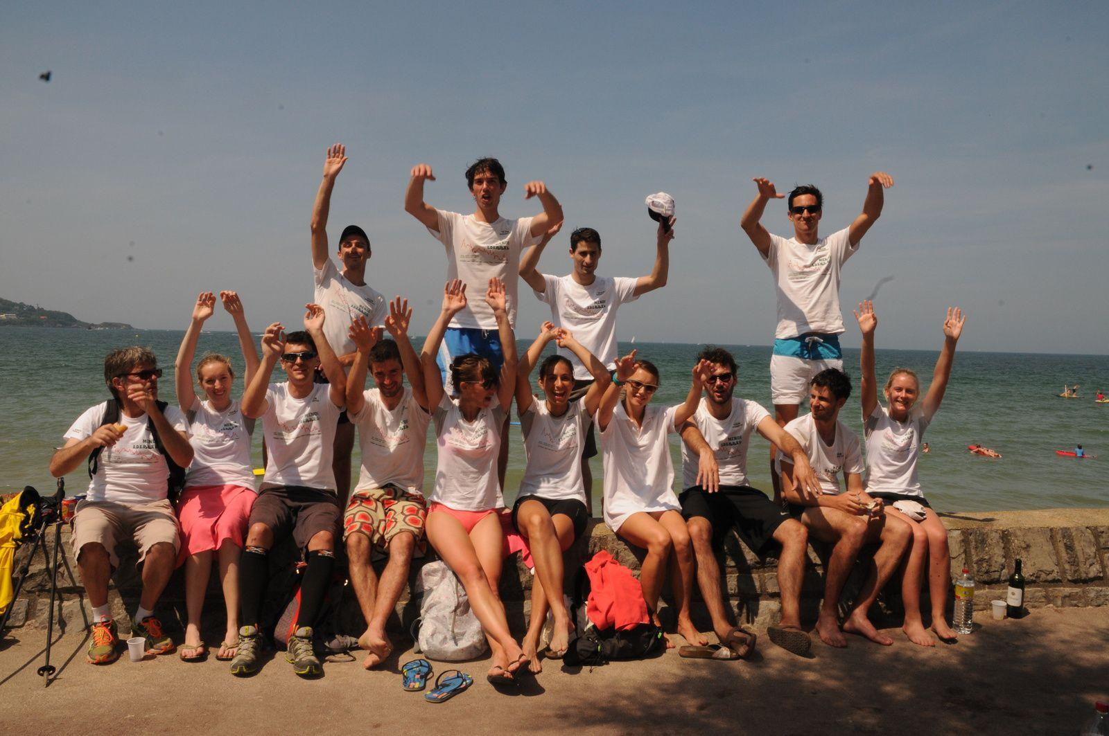 Tout le Team Marmotak à Hendaye, 23 juillet 2013
