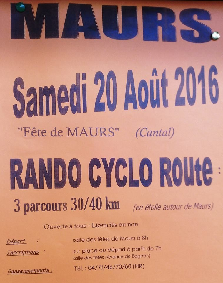 Rando Cyclo Route à Maurs