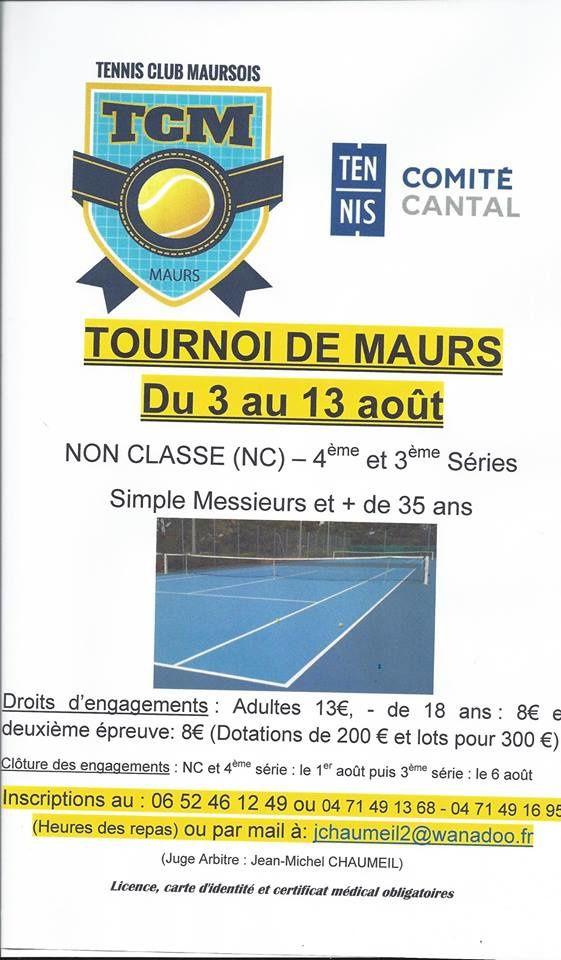 Tournoi d'été hommes avec le Tennis Club Maursois