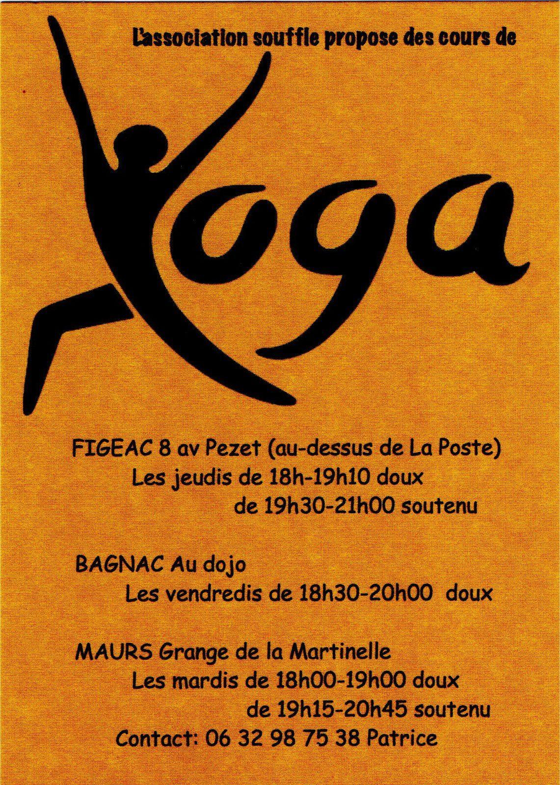 Cours de Yoga à Maurs