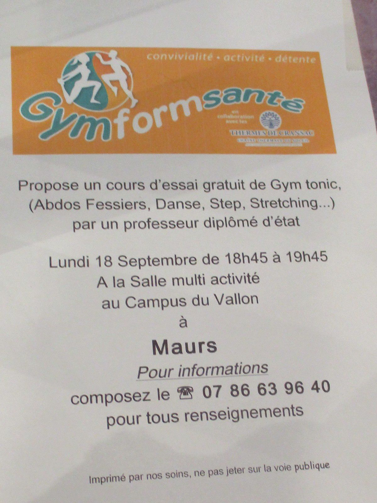 Gym tonic à Maurs