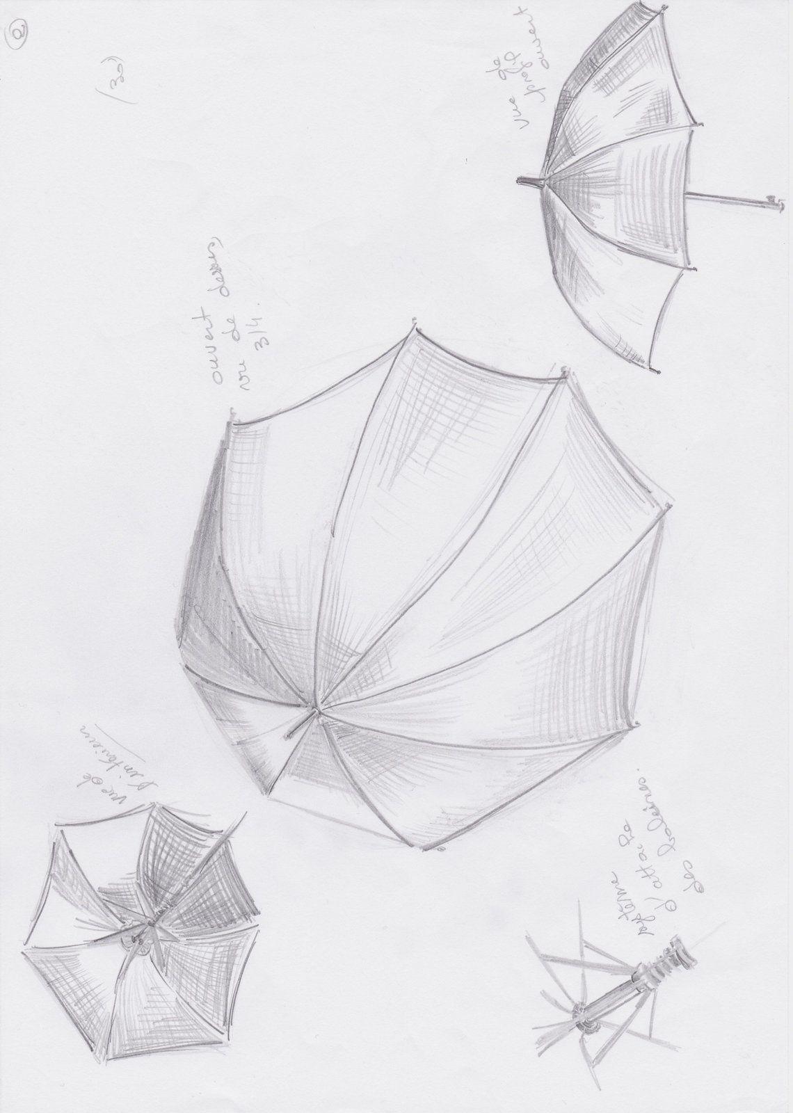 croquis de parapluies