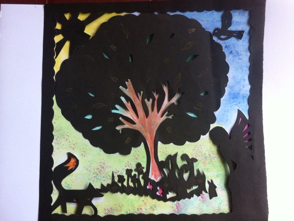 L'arbre et la fée aquarelle