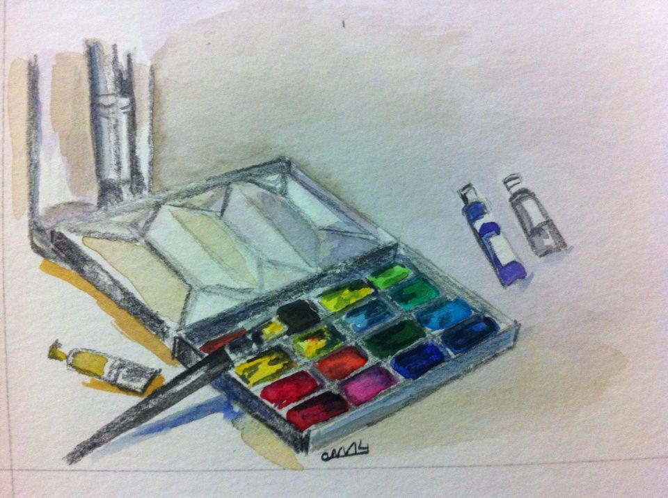 une boîte d'aquarelle en trois étapes...
