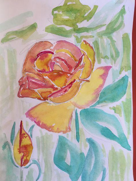 Les roses de l'école