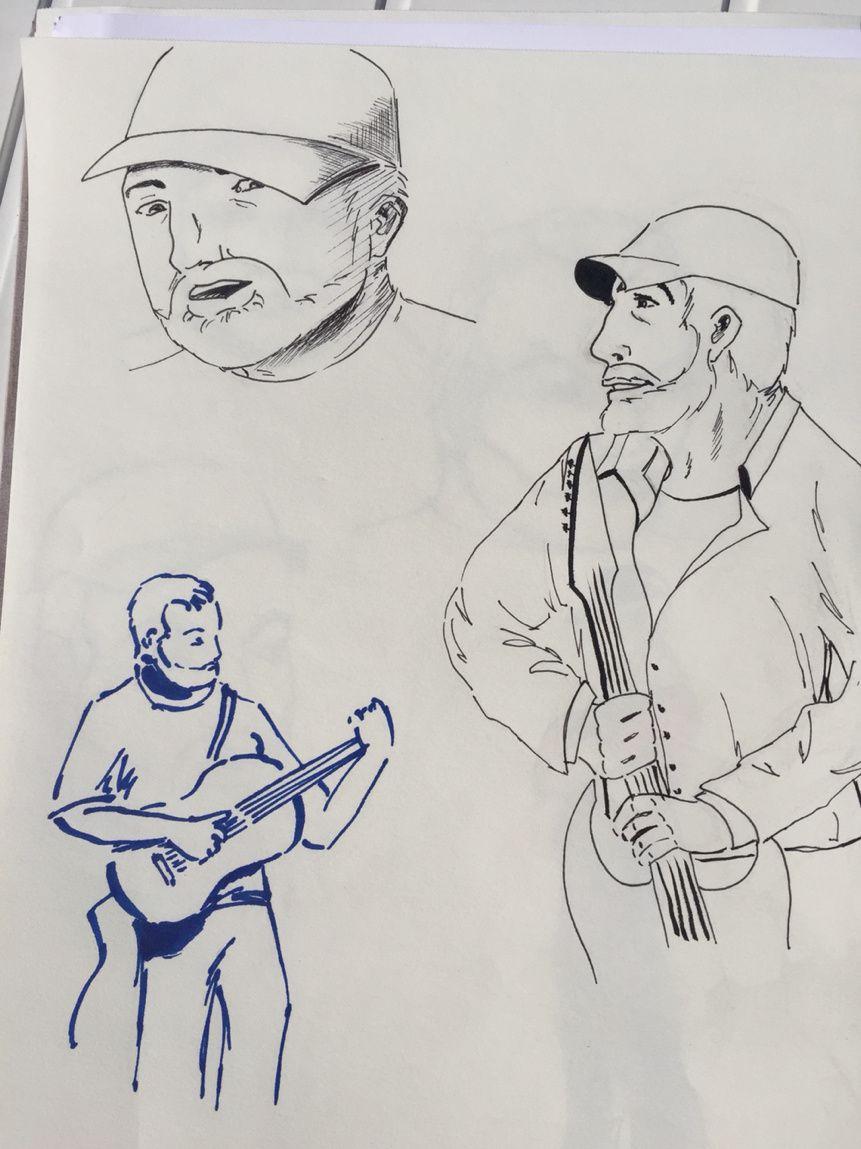 D'autres croquis de mon guitariste