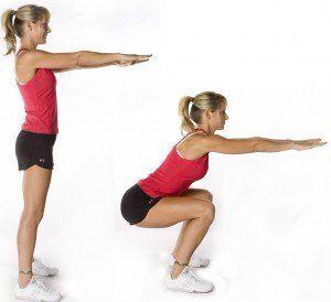 exercice squat fessier